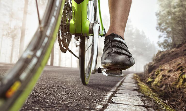 Fahrradschuhe sorgen für ordentlich Traktion