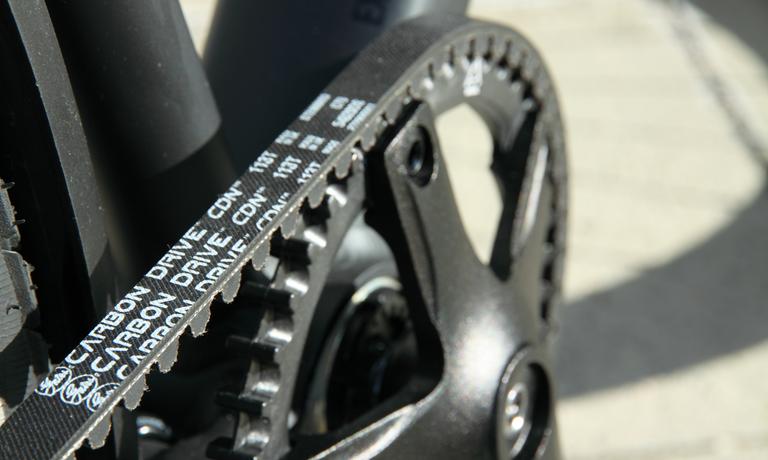Riemenantrieb am Fahrrad